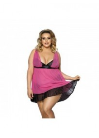 "nuisette grande taille - ensemble nuisette + culotte ""Carinola"" Anais apparel / angels never sin (face)"