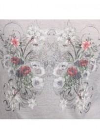 gilet grande taille - gilet avec motif fleuri au dos et strass Claude Gérard (motif)