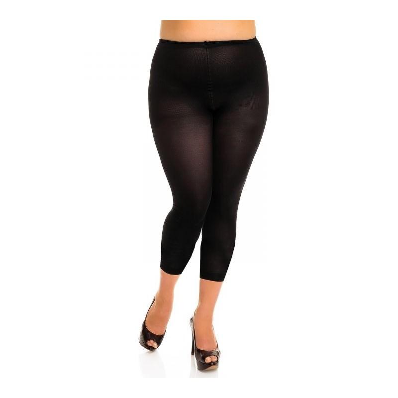 "collant sans pied grande taille - legging opaque noir ""velvet"" 80 deniers Glamory"