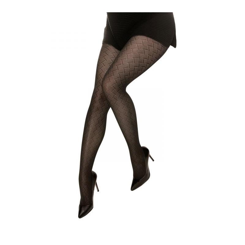 """collant fantaisie grande taille - collant noir opaque 50D """"Toulouse"""" Cette"""