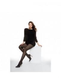 """collant fantaisie grande taille - collant noir opaque 50D """"Toulouse"""" Cette (porté)"""