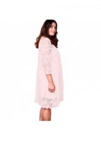 "robe grande taille - robe trapèze évasée dentelle + fond de robe uni ""Paisley"" Lili London (dos)"