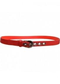 """ceinture grande taille - ceinture """"bulles"""" avec anneaux métalliques coloris rouge"""