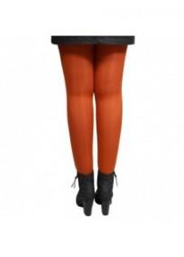 collant grande taille coloré - collant orange