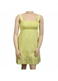 robe grande taille - robe smockée avec broderies