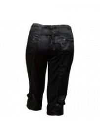 Pantalon grande taille - corsaire satiné Livvy Mystic noir (dos)
