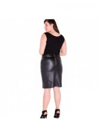 8dec835a6d8 ... Jupe grande taille - jupe simili cuir