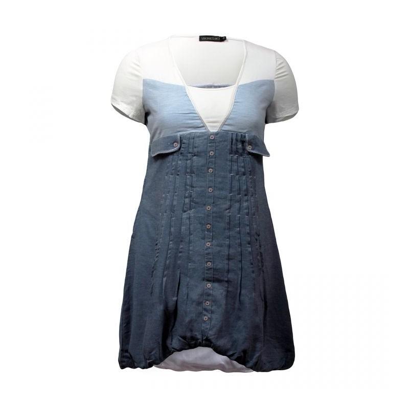 robe tunique 2 en 1 bleu jeans L33 (face)