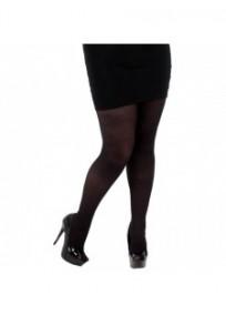 collant fantaisie grande taille - collant noir finement côtelé pamela mann