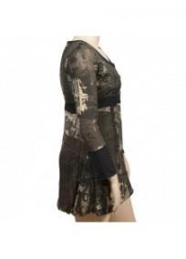 robe kaki imprimée L33 grande taille (côté)