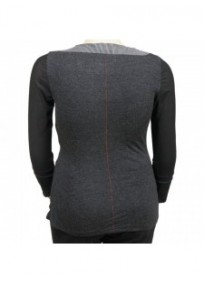 pull gris brodé L33 grande taille (dos)