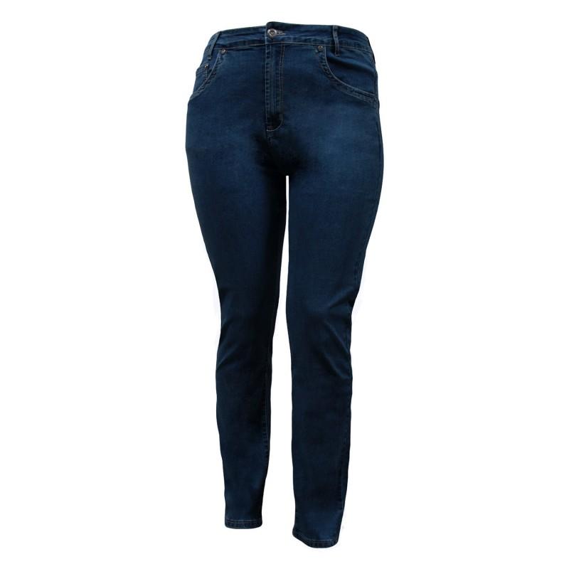 jean grande taille - jean slim bleu navy nanabelle (face)