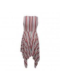 "Robe grande taille asymétrique ""Stripe"" Lili London - dos"