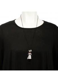 """collier fantaisie grande taille - collier pepette Valentina coloris beige """"les pepettes"""" Lol bijoux (porté)"""