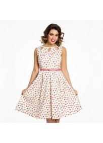 """Robe grande taille - robe à motif cupcakes vintage """"Lily"""" de la marque Lindy bop (porté face)"""
