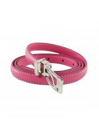 ceinture grande taille - fine ceinture 1.5 cm d'épaisseur fuchsia (entière)