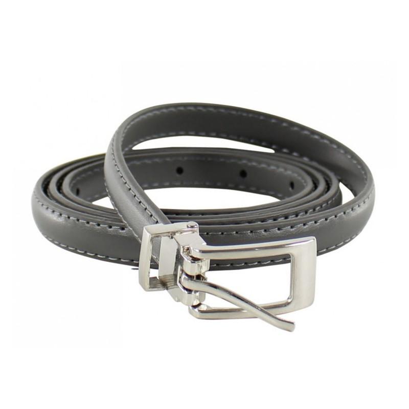 ceinture grande taille - fine ceinture 1.5 cm d'épaisseur grise (entière)