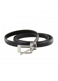 ceinture grande taille - fine ceinture 1.5 cm d'épaisseur noire (entière)