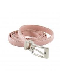 ceinture grande taille - fine ceinture 1.5 cm d'épaisseur rose (entière)