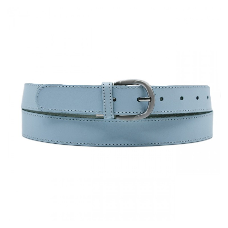 ceinture grande taille - ceinture Yves bleu ciel