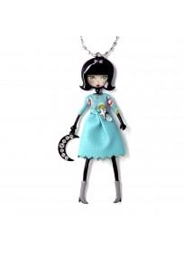 """collier fantaisie grande taille - collier pepette Elodie coloris bleu """"les pepettes"""" Lol bijoux"""