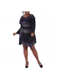 robe grande taille - robe asymétrique imprimée 2W (face)