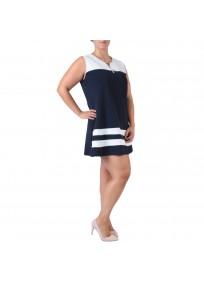 robe grande taille - robe trapèze sans manches avec étoiles 2W (côté)