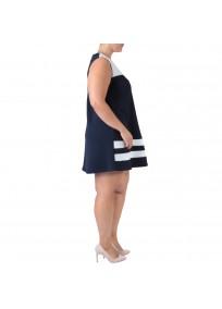 robe grande taille - robe trapèze sans manches avec étoiles 2W (côté 2)