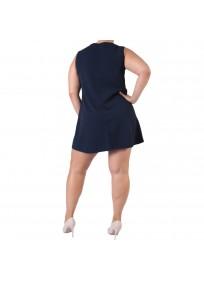 robe grande taille - robe trapèze sans manches avec étoiles 2W (dos)