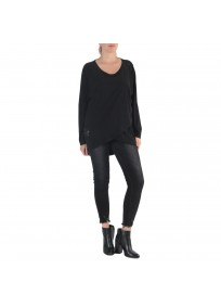 pull grande taille - pull fin avec 3 trous noirs 2W (face)