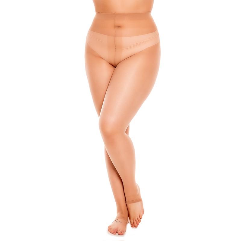 collants grande taille - collants sans pointe sans orteils (porté)