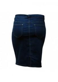 jupe grande taille - jupe en jeans boutonnage avant Nana Belle (dos)