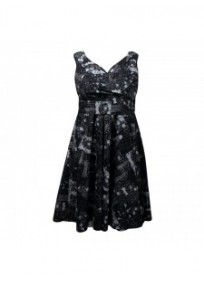 robe grande taille - robe vintage imprimé fleurs Looking glam (face)