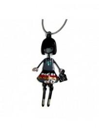 """collier fantaisie grande taille - collier """"Lolita"""" gris mini pepette lol bijoux"""