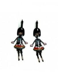 Boucles d'oreilles fantaisie - dormeuses Lolita grises Lol bijoux 15PCP20E