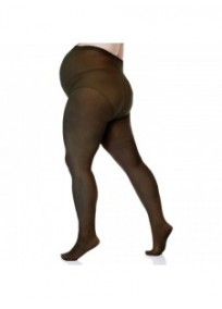 Collants grossesse grande taille - collants maternité 20 deniers fin noirs (dos)