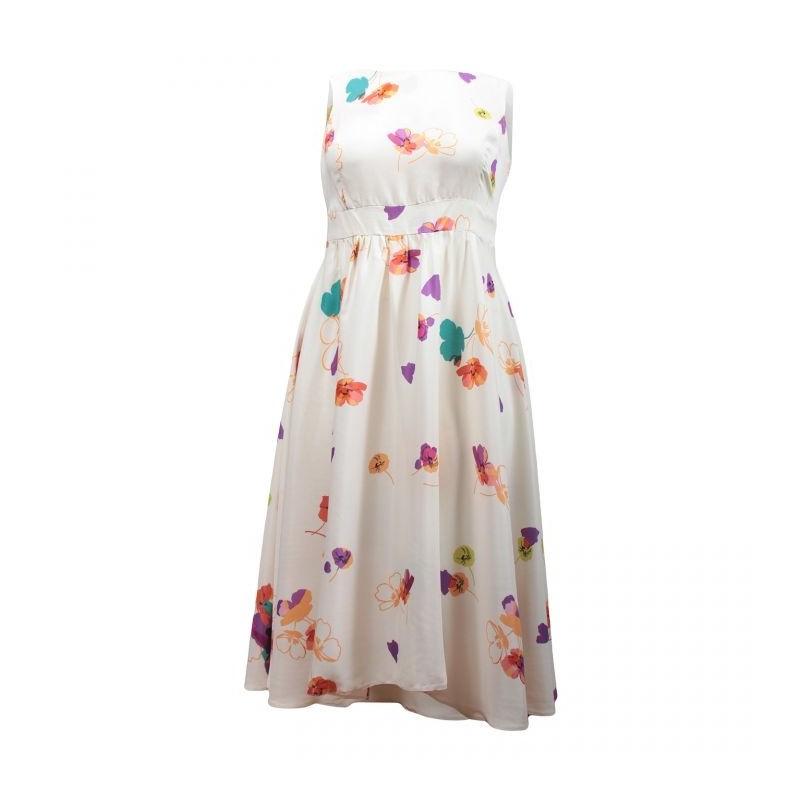 c1bd9f8a917 robe grande taille - robe blanche imprimée grande fleurs été ceinture à la  taille k d london