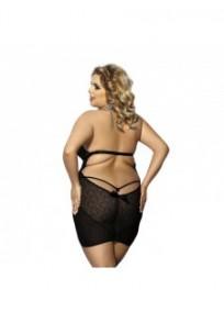 """nuisette grande taille - ensemble nuisette dos nu + string """"Amysa"""" Anais apparel (dos porté)"""